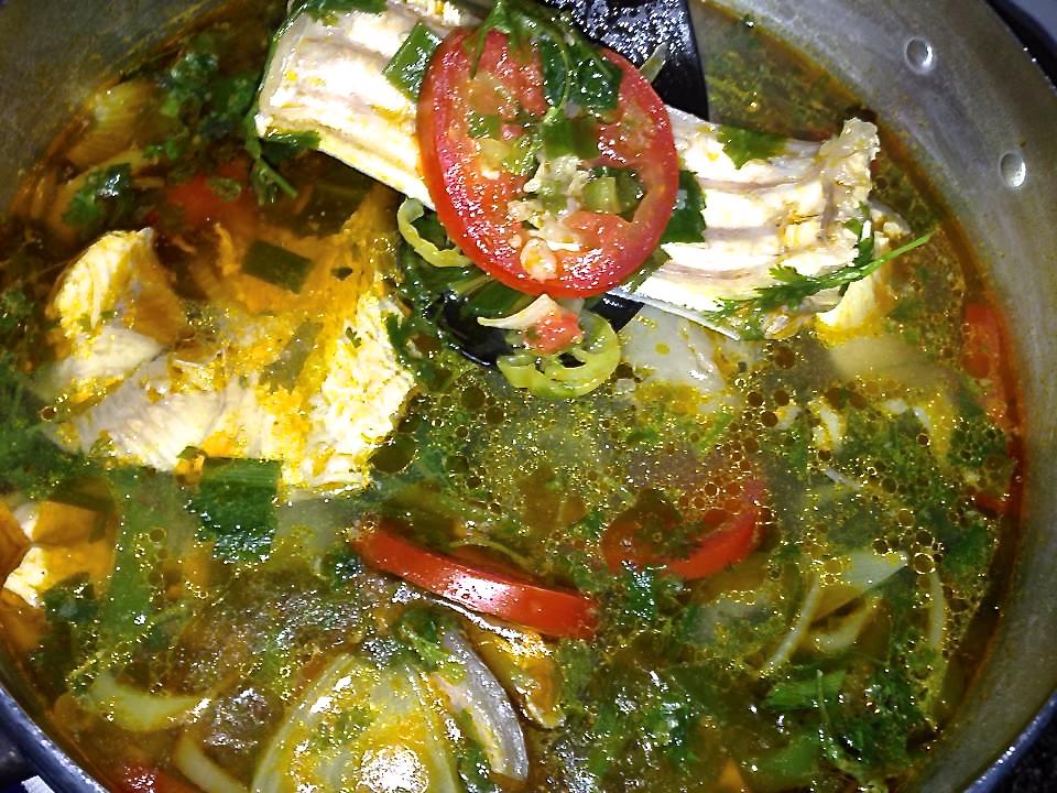 Caldeirada de Tambaqui com bastante verduras…