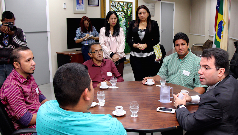Wilker Barreto recebe presidente da Câmara de São Sebastião do Uatumã e destaca projeto da Câmara Compartilhada