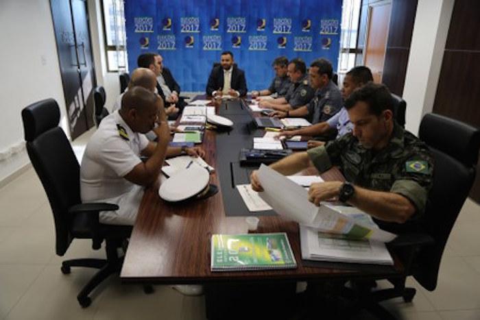 Reunião define quantitativos da PM e das Forças Armadas durante o Pleito Suplementar