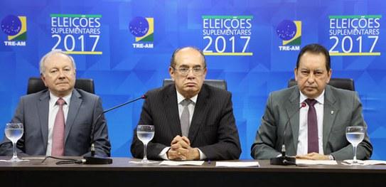 Gilmar Mendes destaca trabalho da Justiça Eleitoral em nova eleição no Amazonas