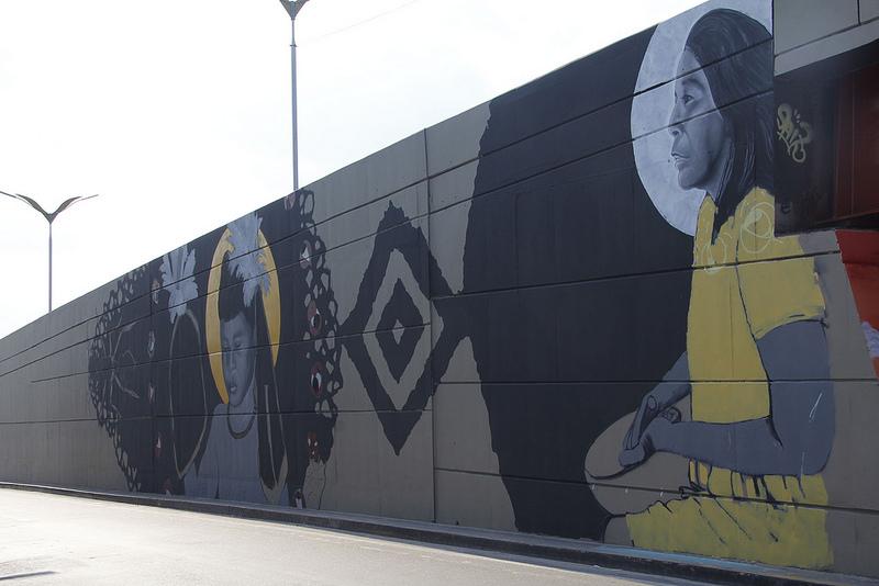 Arte: Mais um viaduto recebe pintura em grafite