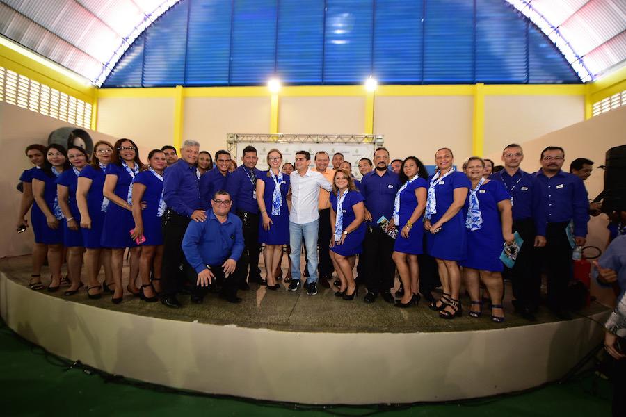 Governador David Almeida inaugura quadra poliesportiva e anexo da Escola Estadual Eliana Socorro Pacheco Braga