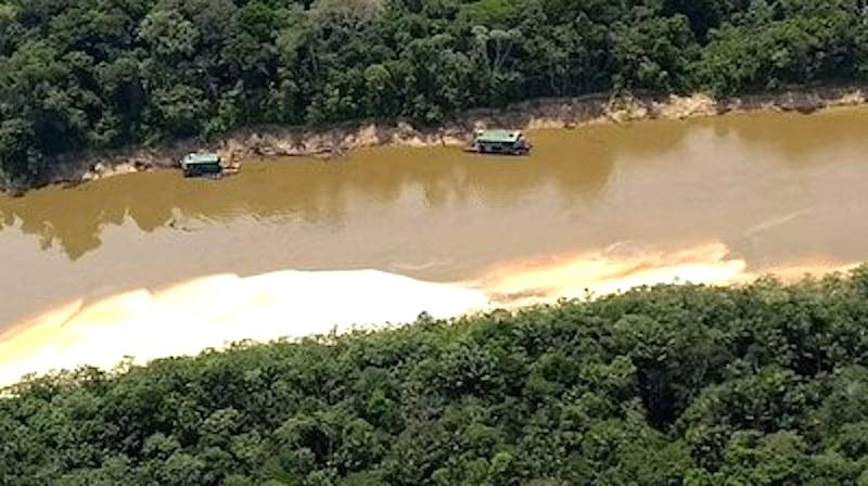 MPF, Exército e Ibama realizam força-tarefa para coibir garimpo ilegal no rio Jandiatuba (AM)